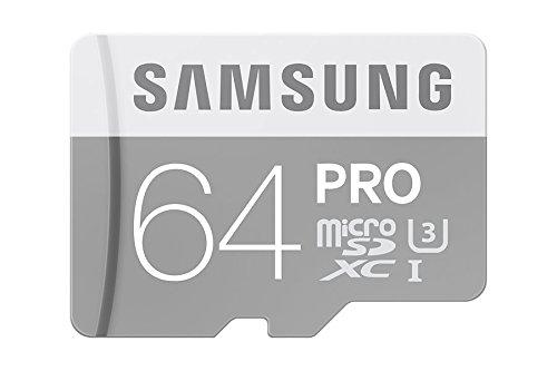 Samsung geheugenkaart MicroSDHC UHS-I Class 10, voor smartphones en tablets Pro 64GB grijs, wit