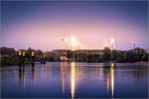 Posterlounge Leinwandbild 60 x 40 cm: Bremer Stadion von Tanja Arnold Photography - fertiges Wandbild, Bild auf Keilrahmen, Fertigbild auf echter Leinwand, Leinwanddruck