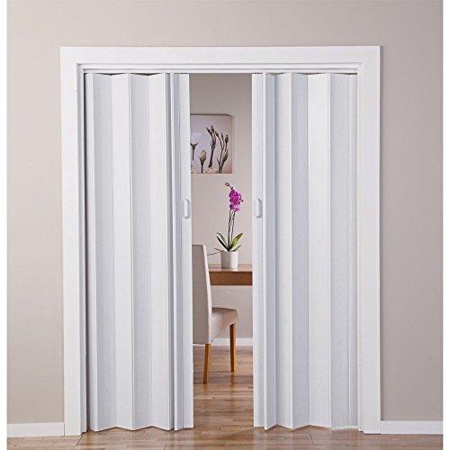 Puerta doble plegable, efecto de roble, color blanco