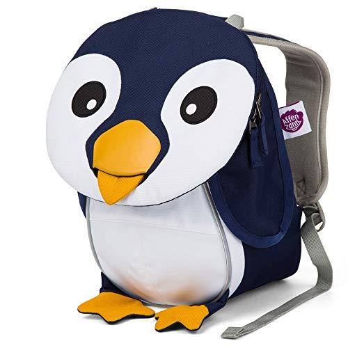 Affenzahn Kinderrucksack für 1-3 Jährige im Kindergarten - Pepe Pinguin - Blau