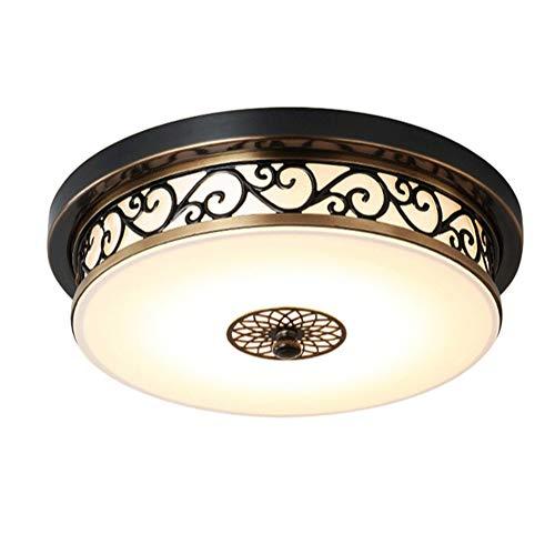 LED Deckenleuchte Dimmbar Deckenlampe Küche Antik Schwarz Gold Design Wohnzimmerlampe Eisen Kronleuchte Kinderzimmer Lampe Esszimmerlampe Schlafzimmerlampe Badezimmerlampe Flurlampe Ø40CM (Schwarz)