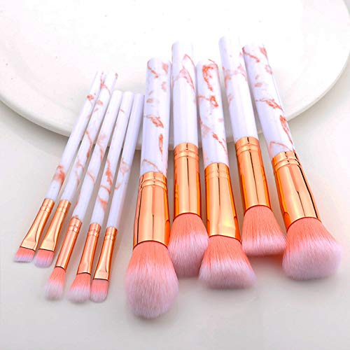 MLYJC Pinceaux Maquillage kit Pinceaux de maquillage Multifonctionnel Pinceau de maquillage Correcteur Fard à paupières Fondation Maquillage Brush Set Tool, 10pcs rose