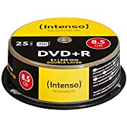 Intenso DVD+R 8,5GB Double Layer 8x Speed 25er Spindel