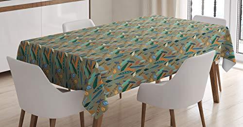 ABAKUHAUS Pluma Mantele, Penacho, Resistente al Agua Lavable Colores No Destiñen Personalizado, 140 x 200 cm, Multicolor