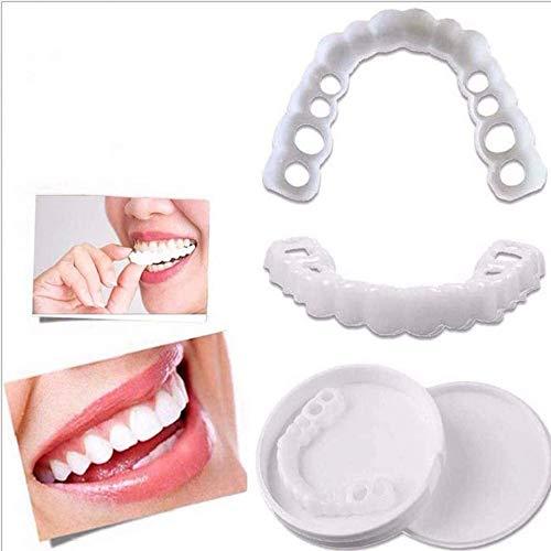 FGDSA Cosméticos Dientes Comfort Fit Retenedor de Talla única La dentadura más cómoda Arregle su Sonrisa Pegatina Bandeja de blanqueamiento 1 par, Kits de blanqueamiento de Dientes