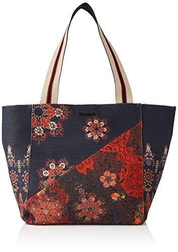 Desigual Fabric Shopping Bag, Sac Femme, Noir, Taille Unique