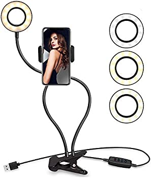 Looffy Selfie LED Ring Light with Cell Phone Holder Stand