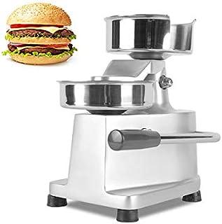 CGOLDENWALL 家庭用パテプレス ステンレス製肉プレス機 ハンバーガーメーカー ミートパイ厚さ調整可能 パイ器具 diy ハンバーガー型 (パテ直径100㎜)