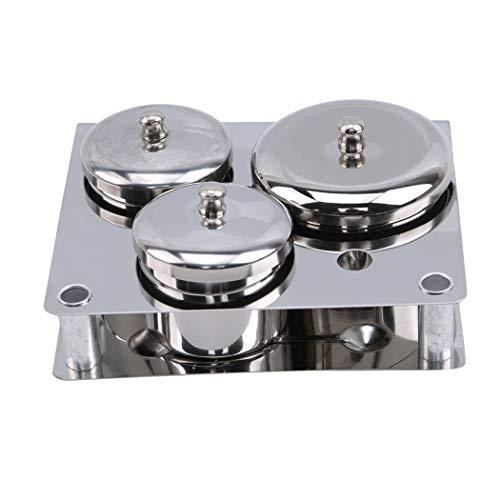 JXCG Outils d'art d'ongle, mini-poudre en acier inoxydable et boîte de rangement de boîtes de liquide en acier inoxydable Outils de manucure compacts