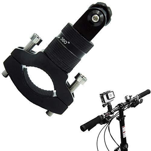 Soporte de bicicleta para cámaras de acción, aleación de aluminio, rotación de 360 grados, soporte de cámara de acción para bicicleta de montaña