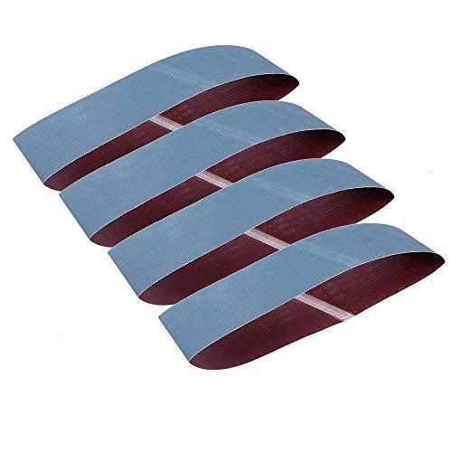 Bandas de lija de aluminio GOODCHANCEUK 1000 granos, 100 x 915 mm, papel de lija de óxido de aluminio para pulido de óxido de metal (P1000), color azul