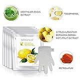 5 pares de guantes hidratantes Máscaras naturales y orgánicos hidratante para pieles secas a mano | Tratamiento de spa colágeno con Vitamina C | Guantes hidratantes profesionales para dar brillo