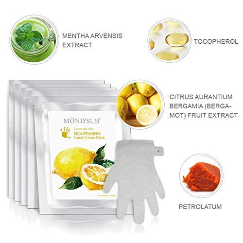 5 pares de guantes hidratantes Máscaras naturales y orgánicos hidratante...