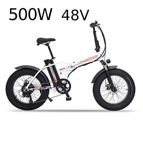 XXCY MX20 Elektrische Faltrad Unisex Faltbares Fahrrad 500 Watt * 48 V * 15 Ah 20 Zoll Fett Reifen Straße Ebike Shimano 7 Geschwindigkeit