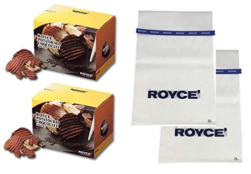 【ROYCE'】ホワイトデー ロイズ ポテトチップチョコレート オリジナル 2個セット ギフト袋 ロイズ 青ビニタイ付き北海道銘菓