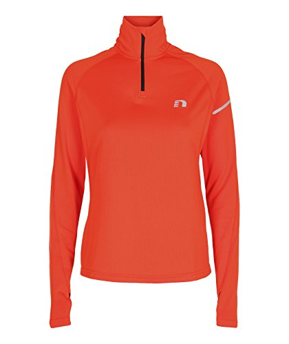 NewLine Femme Base Thermal Sweater Hiver Manches Longues, Femme, Base Thermal Sweater, Orange, Medium