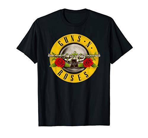 Guns N Roses Hombres Bullet Logo Camiseta X-Large Negro