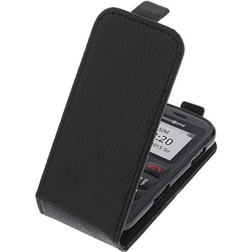 foto-kontor Tasche für Swisstone BBM 320C Smartphone Flipstyle Schutz Hülle schwarz