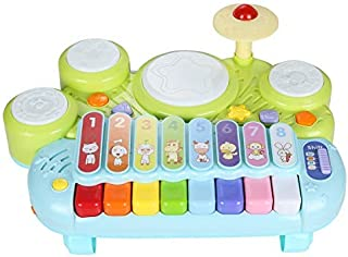 NuoPeng 3 in 1 Baby Xylophone Piano Beat Drum Take Along Tunes Musical Toys Best Gift for Baby's Brithday and Christmas