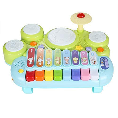 NuoPeng 3 in 1 Baby Xylophone Piano Beat Drum Take Along Tunes Musical Toys Best Gift for Babys Brithday and Christmas