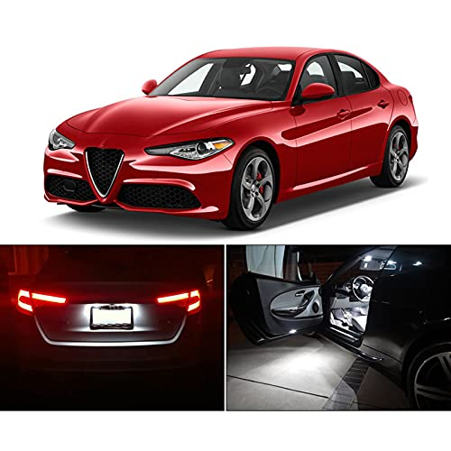 Kit de luz de Mapa de cúpula de Bombilla Interior LED sin Errores, para Alfa Romeo Giulietta Mito Brera GT Spider 147156159166