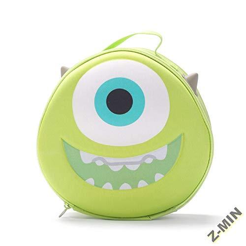 Z-MIN Cartoon Cute Storage Bag Cosmetic Bag Big-Eyed Large-Storage Storage Bag, Vert