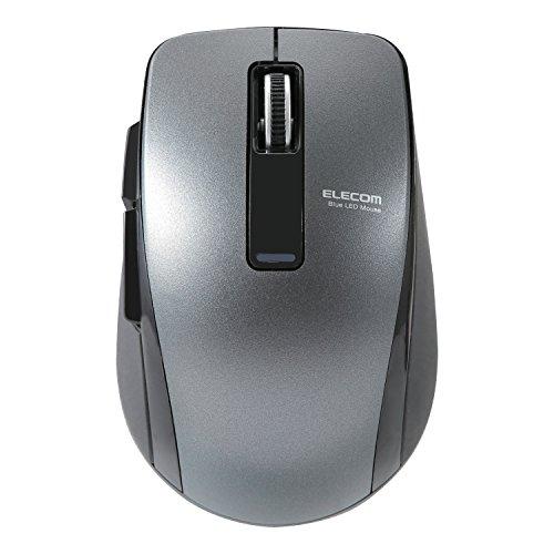 エレコムマウスBluetooth(iOS対応)Mサイズ5ボタン(戻る・進むボタン搭載)BlueLED省電力(電池寿命:約1.3年)ブラックM-BT20BBBK