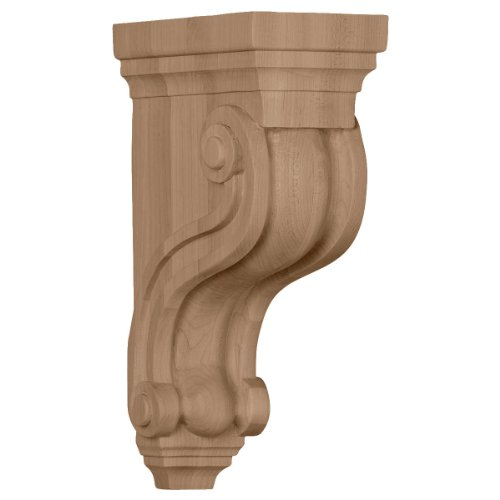 Ekena Millwork COR03X06X10TSMA 3 3/8-Inch W x 6 1/2-Inch D x 10 1/2-Inch H Boston Traditional Scroll Corbel, Maple