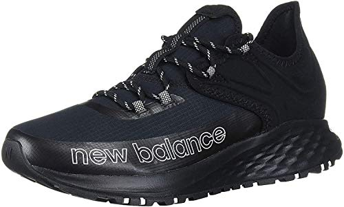 New Balance Men's Fresh Foam Roav Trail V1 Running Shoe, Black/White, 8.5 D US