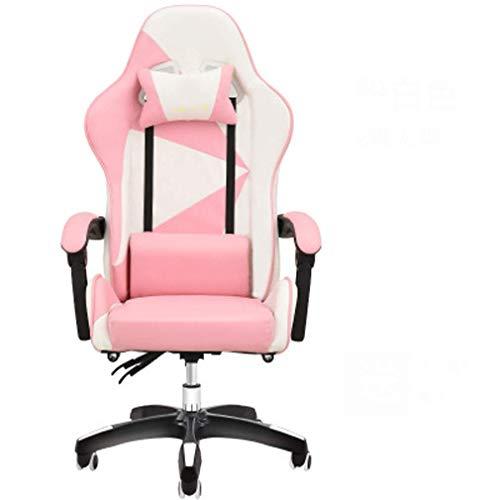 Baibao Gaming-Stuhl, Massagesessel, mit Fußstütze und Lehnstuhl, für Zuhause, Büro, Schreibtisch, Computerspiel, Drehstuhl, 4 Stück (Farbe: 3)