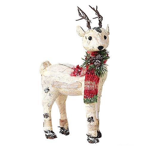 ZXLIFE@ Houten Elk Ornamenten, Kerst Decoraties, Kerst Ornament met Uniek Ontwerp, Maak Feestelijke Sfeer, voor Vensterbank, Gang, Kerstboom