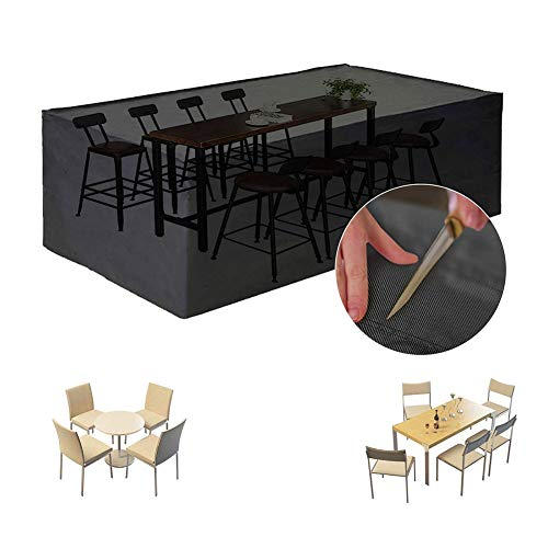 NINGWXQ Patio Garden Furniture Cover Rechthoekig Ovaal Waterproof beschermingszeil, Zwart, Meerdere Maten (Color : Black, Size : 100X100X140cm)