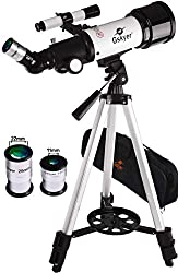 powerful Gskyer telescope, travel telescope, 70 mm telescope with astronomical refractometer for kids and beginners, …