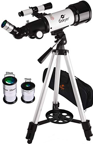Gskyer Telescope, Travel Telescope, 70mm Astronomical Refractor Telescope for Kids Beginners, Portable Telescope For Adults - Telescope Phone Mount With Carry Bag And Wireless Remote