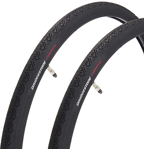 ブリヂストン(BRIDGESTONE) LONGREAD(ロングレッド) タイヤ、チューブ2本巻 クロサイド LR26BLB F272830 ブラック 26x1-3/8