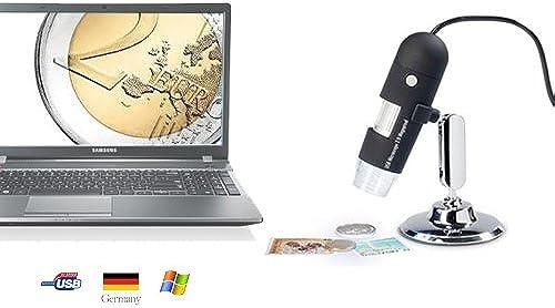 Leuchtturm DM1 Digitales USB-Mikroskop mit 2.0 Megapixel, 20- bis 200-fache VerGrößerung