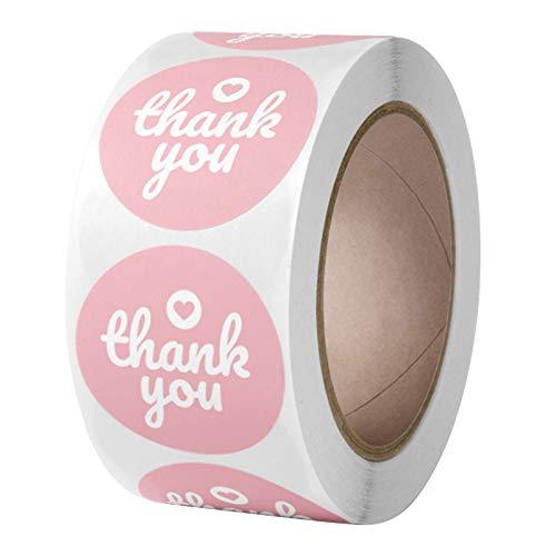 500 pegatinas de agradecimiento de 2,5 cm para caja de regalo, sello de etiqueta, para álbumes de recortes, decoración de sobres, pegatinas de