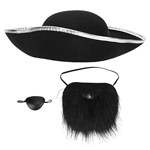 Fausses moustaches, l'apparence est très réaliste Accessoires de pirate pour Halloween pour les fêtes de maquillage pour le cadeau à la famille pour les réunions de famille