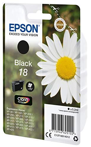 Epson C13T18014022 Schwarz Original Tintenpatronen Pack of 1
