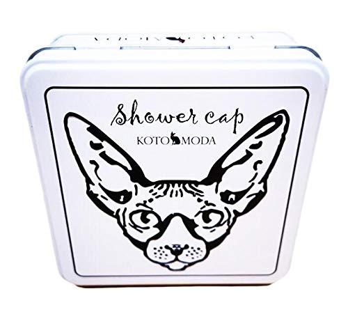 Kotomoda 20 Duschhauben für Sphynx-Katzen und andere haarlose Katzen in Einer Geschenkbox aus Blech