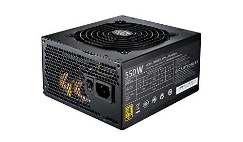 Cooler Master MWE 550 Gold PSU (UK Plug) - fully modular 80 PLUS Gold 550W Power Supply Unit, Flat...