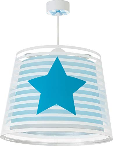 Dalber Light Feeling Lámpara Infantil de Techo Estrellas, 60 W, Azul