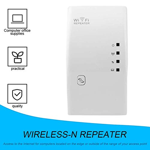 Moliies Admite Redes WLAN de 2.4GHz 300Mbps Wireless N 802.11 Ap WiFi Router Repetidor Extensor Booster RJ-45 Cable de Red/Blanco