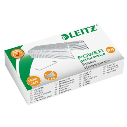 Leitz Heftklammer, 24/8 mm, verzinkt, 1000 Stück (5, 24/8mm)