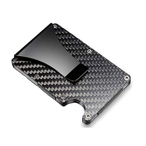Hyde Premium Kreditkartenetui Carbon mit Geldklammer, RFID & NFC Schutz - Geldbörse von 1 bis zu 15 Kreditkarten