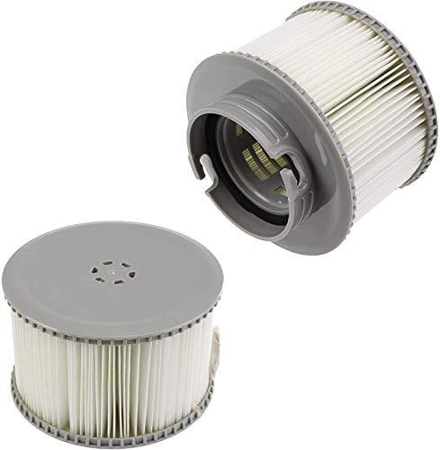 ASSDITED 2 Stück Ersatz-Filterkartusche MSpa, Pool-Filterkartuschen Whirlpool Filter Kartusche MSpa Filterkartusche für aufblasbare Pools