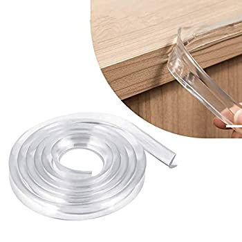 Corner Protectors Transparent E-PRONSE 6M/20FT Furniture Table Edge Protectors Soft Silicone Bumper Strip with 14M Strong Adhesive Tape for for Cabinets Tables Drawers