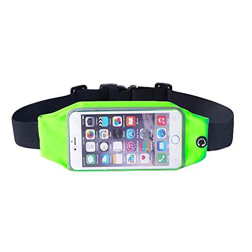 EASYSPEED Sport Negro Cinturón Correr de Unidad de Agua Densidad elástica Teléfono Móvil Funda–Bolso riñonera Deportivo Unisex (5.5'' - 6.3'' Pulgada, Fluorescente)