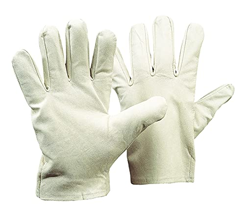 Richard Leipold Vollnappaleder-Handschuh weiß (1, 7)
