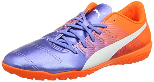 Puma Evopower 4.3 Tt - Chaussures de Football - Homme - Multicolore (Blue Yonder-puma White-SHOCKING Orange 03) - 43 EU (9 UK)